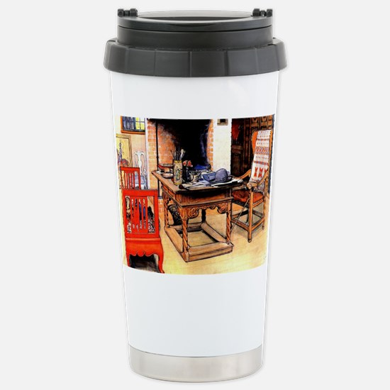 Carl Larsson - Peek-a-B Stainless Steel Travel Mug