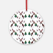 Christmas Saint Bernard dog Ornament (Round)