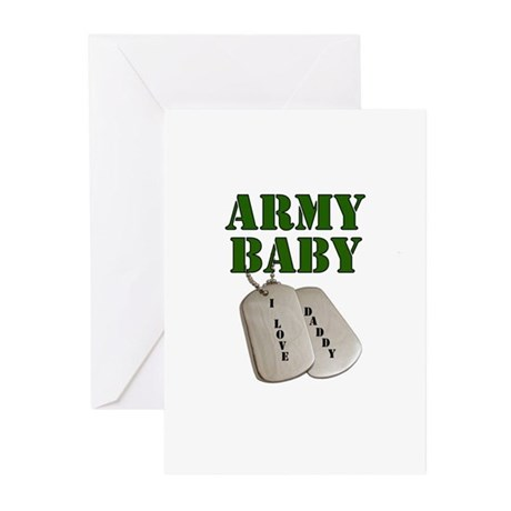 Army Baby - Daddy Greeting Cards (Pk of 10)