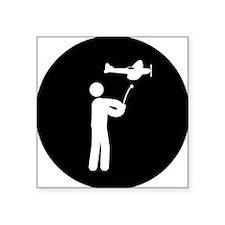 """Remote-Control-Aeroplane-AA Square Sticker 3"""" x 3"""""""