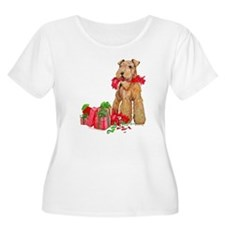 Airedale 11x11 Christmas Plus Size T-Shirt
