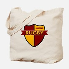 Rugby Shield Maroon Gold Tote Bag