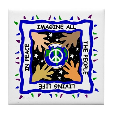 Hands of Peace Tile Coaster