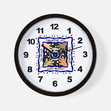 Hands of Peace Wall Clock
