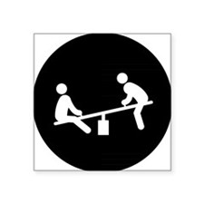 "See-Saw-AAB1 Square Sticker 3"" x 3"""