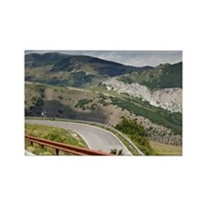 Mountain Road, Apennines, Montefe Rectangle Magnet