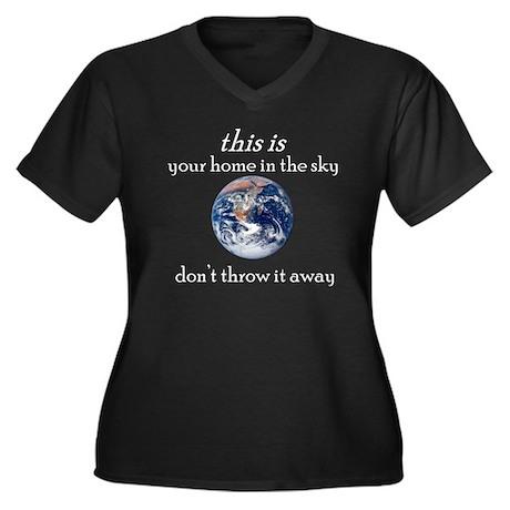 Atheist Activism Women's Plus Size V-Neck Dark T-S