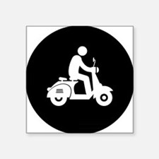 "Scooter-AAB1 Square Sticker 3"" x 3"""