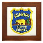 Butte County Sheriff Framed Tile