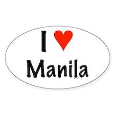 I love Manila Oval Decal