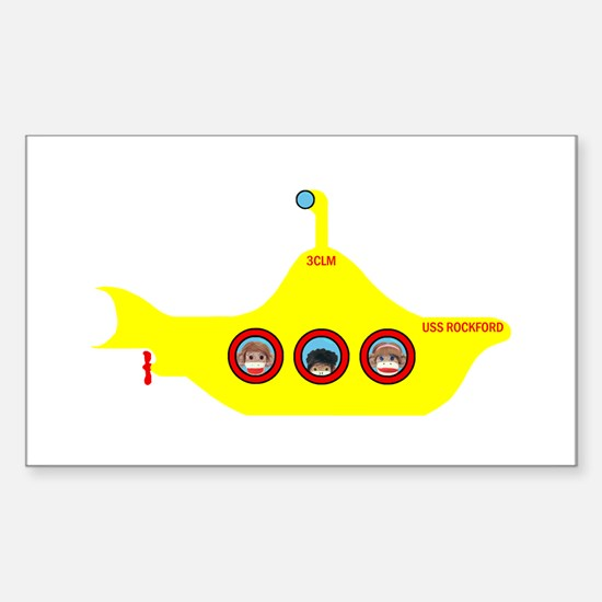 3CLM Yellow Submarine Rectangle Decal