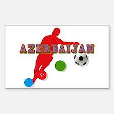 Azerbaijan Soccer Player Decal