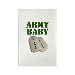 Army Baby - Mommy Rectangle Magnet