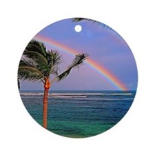 Hawaiian double rainbow Ornament (Round)