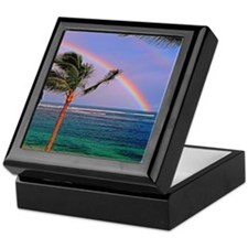 Hawaiian double rainbow Keepsake Box