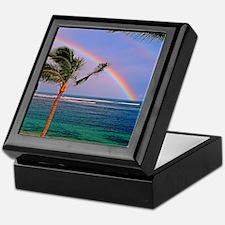 Hawaiian double rainbow Keepsake Box