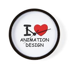 I love animation design  Wall Clock