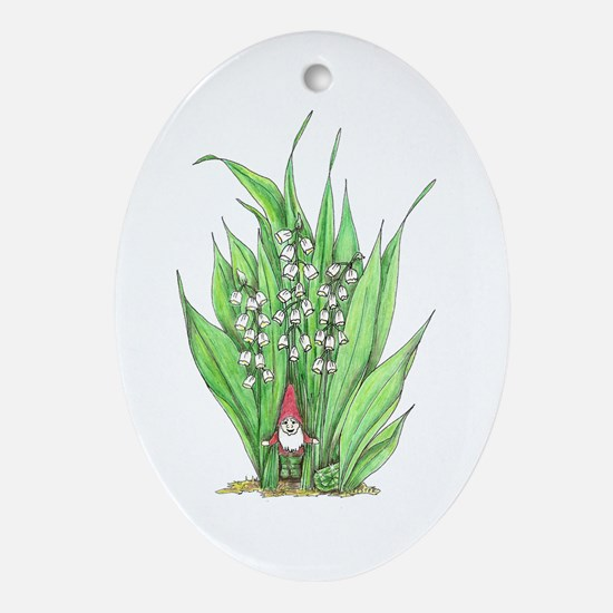 May Oval Ornament