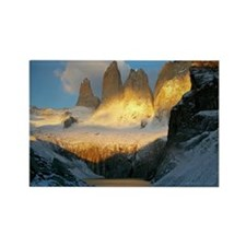Torres del Paine at dawn Rectangle Magnet