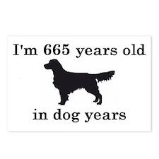 95 birthday dog years golden retriever 2 Postcards