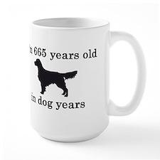 95 birthday dog years golden retriever 2 Mugs