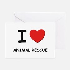 I love animal rescue  Greeting Cards (Pk of 10