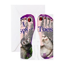 i spy toes Greeting Card
