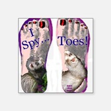 "i spy toes Square Sticker 3"" x 3"""
