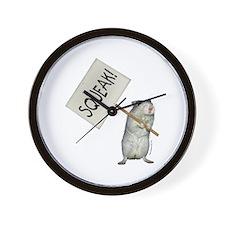 Protesting Gerbil Wall Clock
