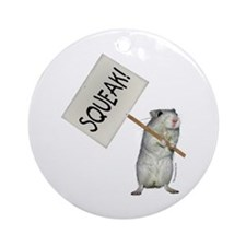 Protesting Gerbil Ornament (Round)