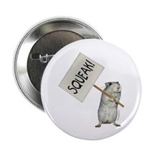 """Protesting Gerbil 2.25"""" Button (10 pack)"""