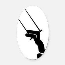 Trapeze-AAA1 Oval Car Magnet