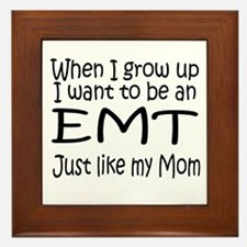 WIGU EMT Mom Framed Tile