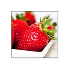 "Pop strawberry Square Sticker 3"" x 3"""