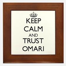 Keep Calm and TRUST Omari Framed Tile