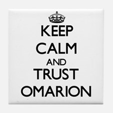 Keep Calm and TRUST Omarion Tile Coaster