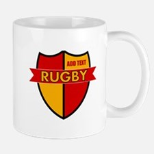 Rugby Shield Red Gold Mug