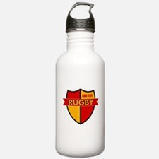 Rugby Shield Red Gold Water Bottle