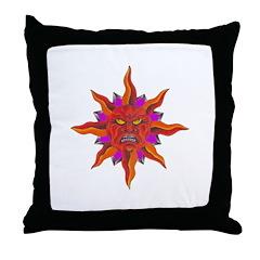Raging Sun Throw Pillow
