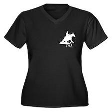 Reining Women's Plus Size V-Neck Dark T-Shirt