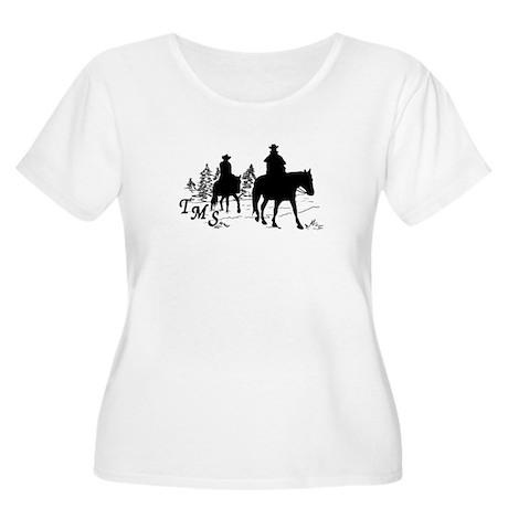 Trail Riding Women's Plus Size Scoop Neck T-Shirt