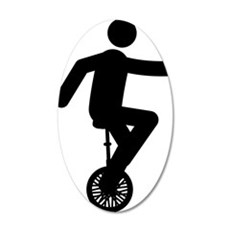 Unicycle-Rider-AAA1 35x21 Oval Wall Decal