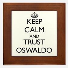 Keep Calm and TRUST Oswaldo Framed Tile