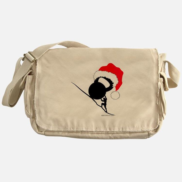 Sisyphus Kettlebell Christmas Messenger Bag