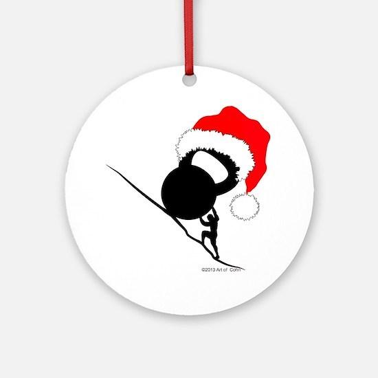 Sisyphus Kettlebell Christmas Ornament (Round)