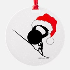 Sisyphus Kettlebell Christmas Ornament