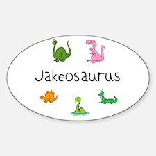 Jakeosaurus Oval Decal