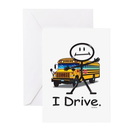 School Bus Driver Greeting Cards (Pk of 10)