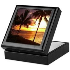 Hawaii sunset beaches Keepsake Box