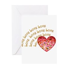 Love Love Love Greeting Card